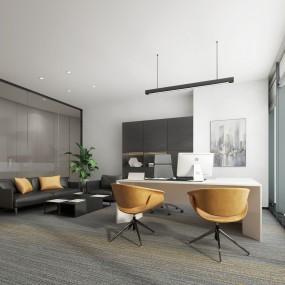 现代总经理办公室3D模型【ID:935780013】