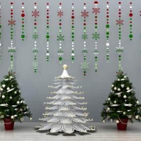 现代圣诞树3D模型【ID:230684504】