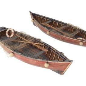 现代渔船游船小舟3D模型【ID:143344413】