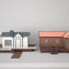 现代移动房3D模型【ID:135856355】