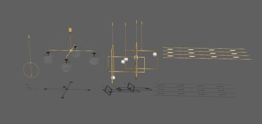 吊燈SU模型【ID:344056830】