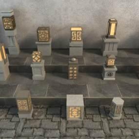 中式庭院灯3D模型【ID:153961459】