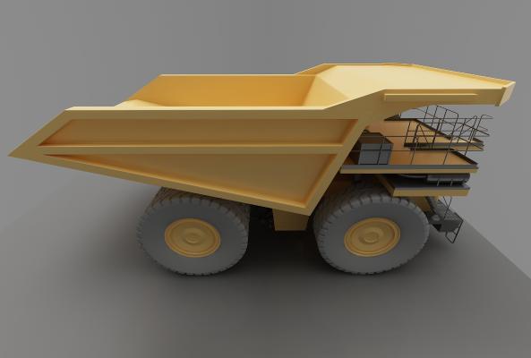 現代風格推土車3D模型【ID:443550750】