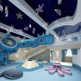 现代海洋主题儿童游乐区3D模型【ID:945562982】