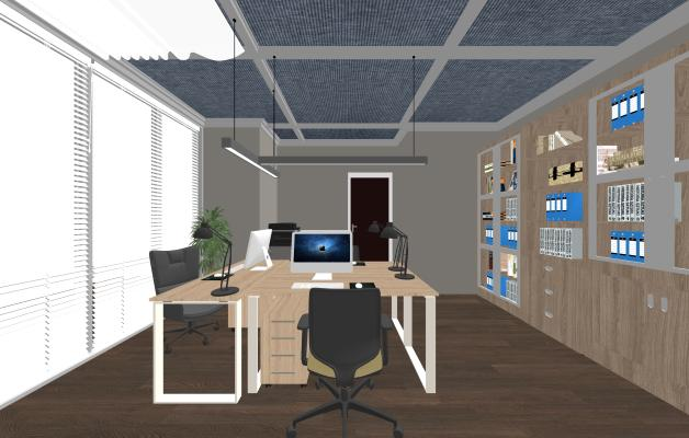 現代辦公室SU模型【ID:345952219】