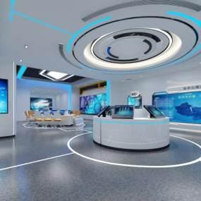 現代科技展廳3D模型【ID:943435737】