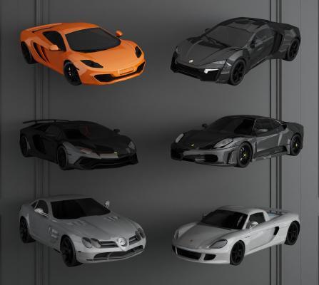 现代跑车3D模型【ID:442896756】