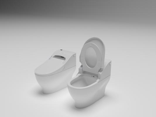 現代智能馬桶模型3D模型【ID:633964493】