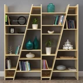现代书柜3D模型【ID:131770504】