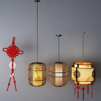 中式吊灯3D模型【ID:732336829】
