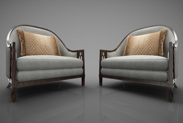 新中式风格沙发3D模型【ID:644700469】