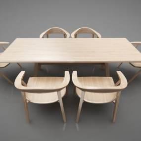 现代风格餐桌3D模型【ID:848772845】