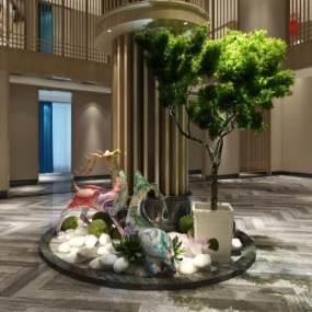 工业风餐饮景观摆设鹿3D模型【ID:145629487】