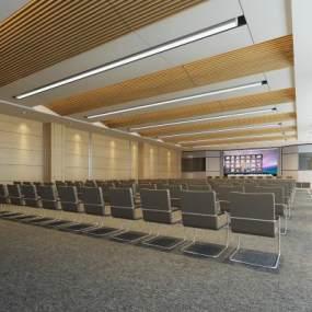 现代会议室3D模型【ID:935949123】