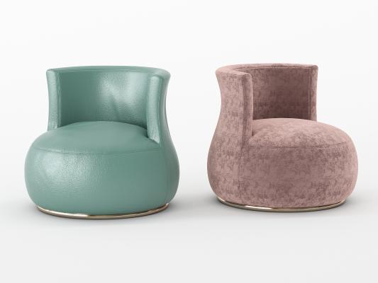 现代单人沙发3D模型【ID:653292400】