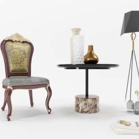 欧式餐椅3D模型【ID:732366148】