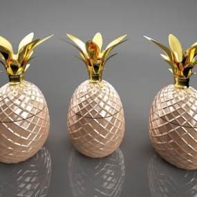 新中式菠萝金属摆件3D模型【ID:234667592】