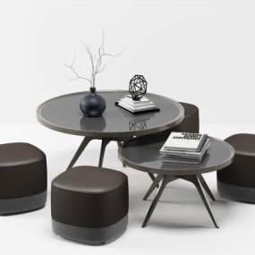 北歐茶桌椅3D模型【ID:647071881】