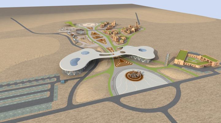 現代新疆商業規劃3D模型【ID:245994015】