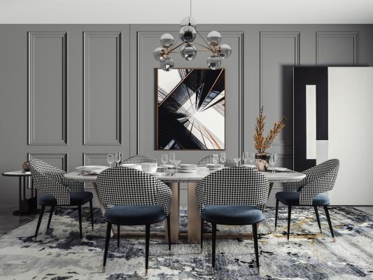 现代风格餐厅 餐桌椅