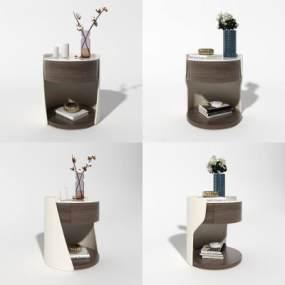 现代轻奢床头柜 3D模型【ID:640794844】