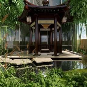 庭院3D模型【ID:145488461】