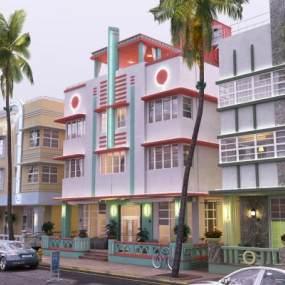 东南亚室外建筑3D模型【ID:134682732】