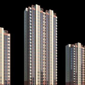 现代高层建筑3D模型【ID:133234736】