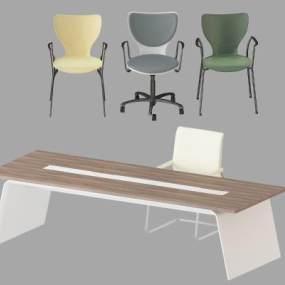 现代布艺办公椅3D模型【ID:935427156】