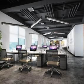 现代办公室会议室3D模型【ID:535848035】