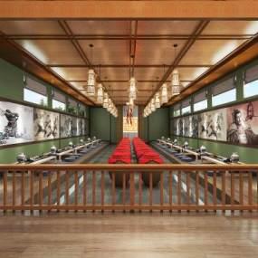 中式古建室内餐厅3D模型【ID:652873625】