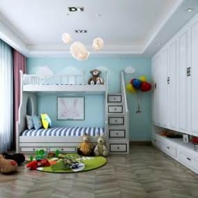 现代卧室3D模型【ID:544681219】