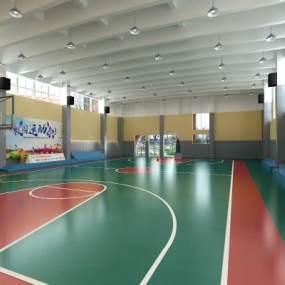 現代室內籃球場3D模型【ID:948146600】