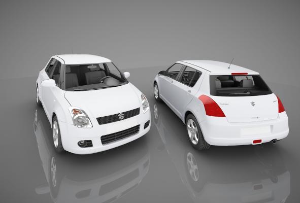 现代风格小汽车3D模型【ID:441830760】