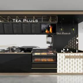 现代奶茶店3D模型【ID:643553988】