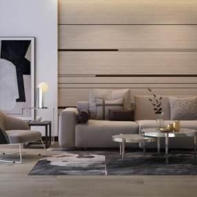 现代现代多人沙发 3D模型【ID:640923794】