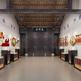 中式室内展厅3D模型【ID:950555925】