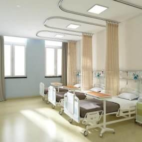 医院病房病床设备组合3D模型【ID:930433713】