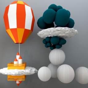 热气球3D模型【ID:630576382】