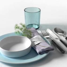 现代刀叉餐具组合3D模型【ID:234727844】