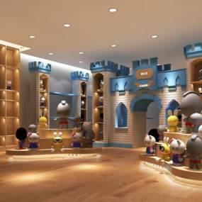 现代儿童玩偶玩具店3D模型【ID:934845804】