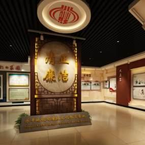 中式地稅局廉政展廳3D模型【ID:952477997】