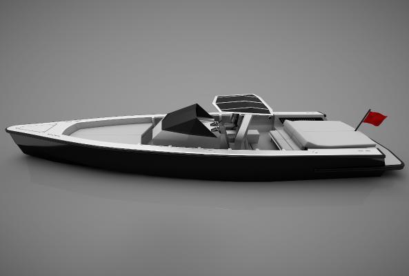 現代風格小船3D模型【ID:443144890】