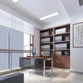 现代经理室3D模型【ID:934738056】