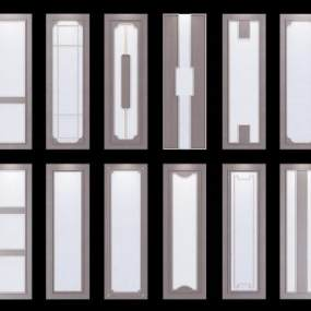 新中式护墙板组合3D模型【ID:330946150】