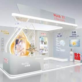 现代商业展台3D模型【ID:952389790】