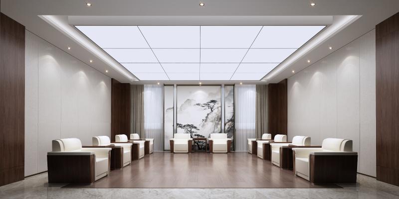 现代中式贵宾接待室3D模型【ID:947508337】