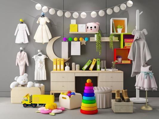 现代儿童服装 玩具 卡通柜