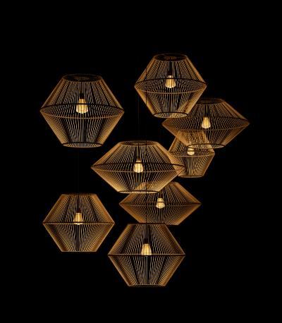 新中式木質吊燈3D模型【ID:751507826】
