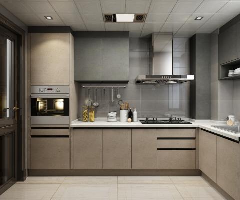 现代厨房3D模型【ID:142847719】